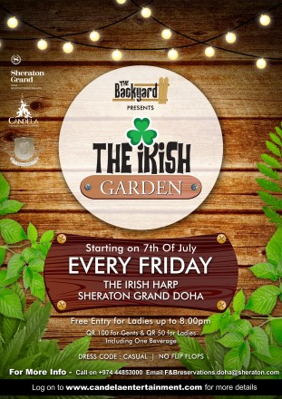 The Backyard presents: THE IRISH GARDEN opens 7th July